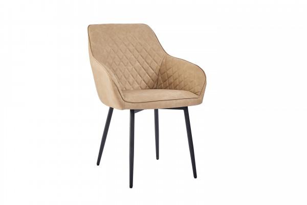 Stühle für Restaurant Mila Hellbraun Kunstleder Hotel Bistro