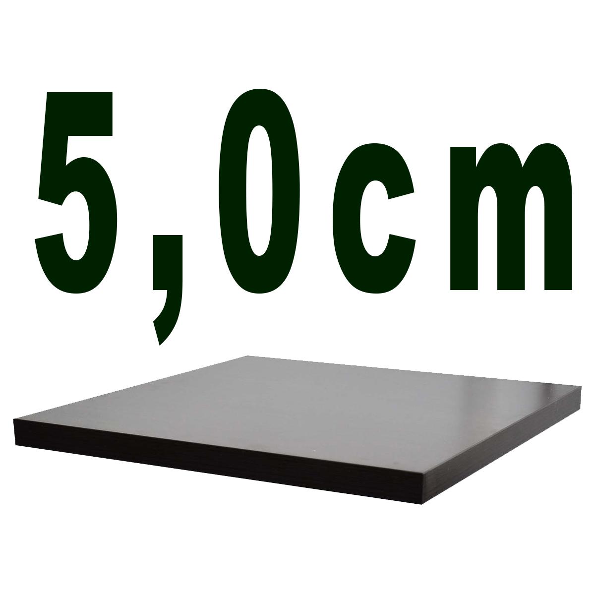 5,0 cm,  Melaminharzbeschichtet