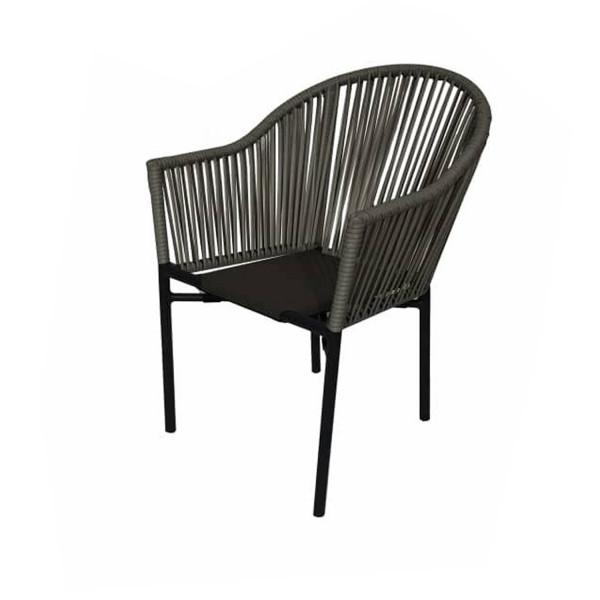Polyrattan Stuhl Parma Grau 25 Stühle