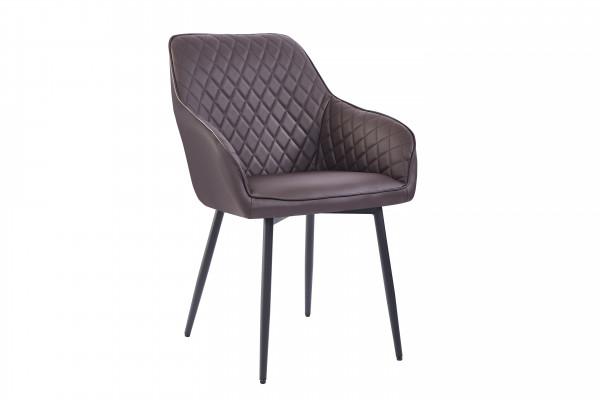 Stühle für Restaurant Mila Dunkelbraun Kunstleder Hotel Bistro