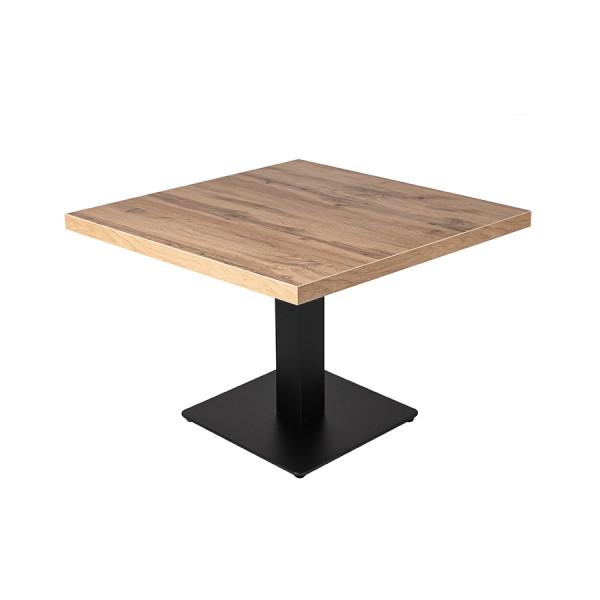 Lounge-tisch Andora Eiche 50x50cm Shisha Restauranttisch Bistrotisch Tisch