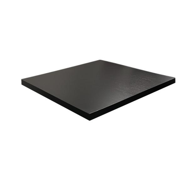 Tischplatte 70x70cm in Schwarz kratzfest Mit ABS Schutzkante