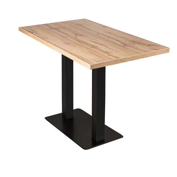 Stehtisch Andora Eiche 100x80cm Restauranttisch Bistrotisch Gastrotisch Tisch
