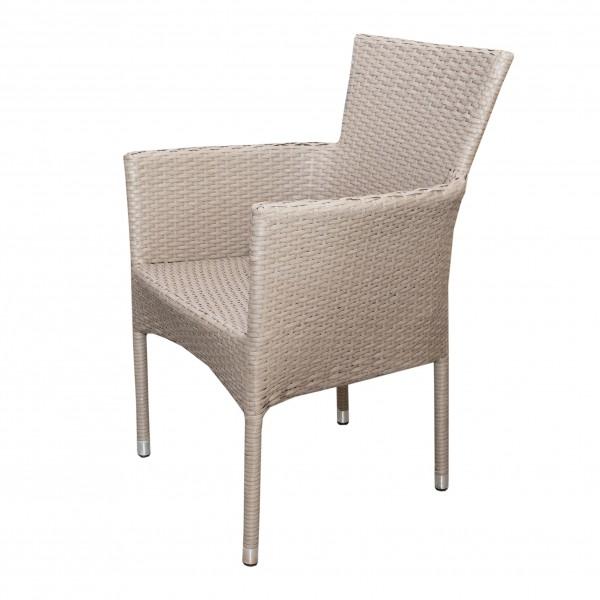 Polyrattan Stuhl NAPOLI Beige