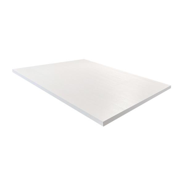 Tischplatte 120x80cm in Weiss kratzfest Mit ABS Schutzkante