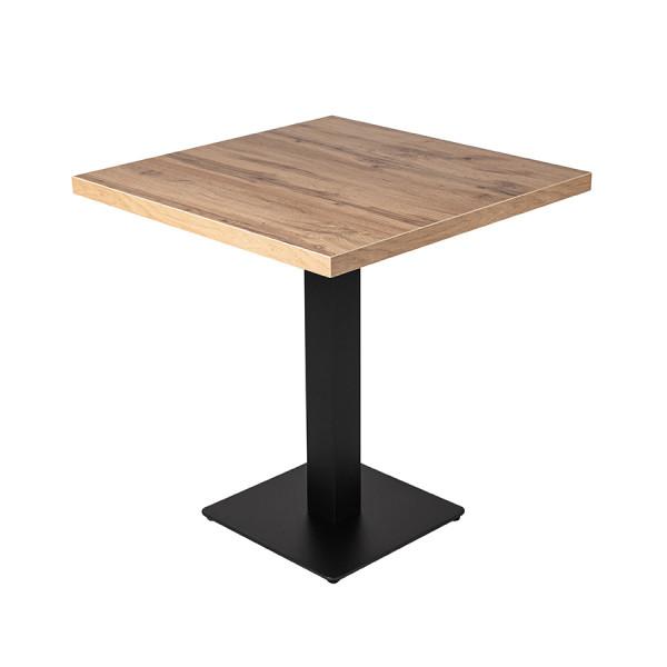 Tisch Andora 80x80cm Eiche Restauranttisch Bistrotisch Gastrotisch