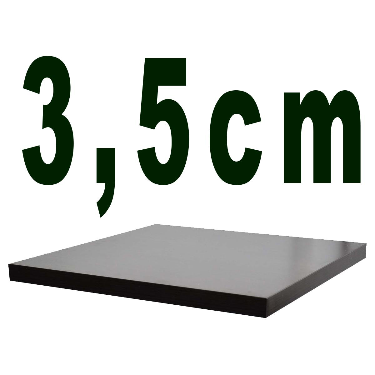 3,5 cm,  Melaminharzbeschichtet
