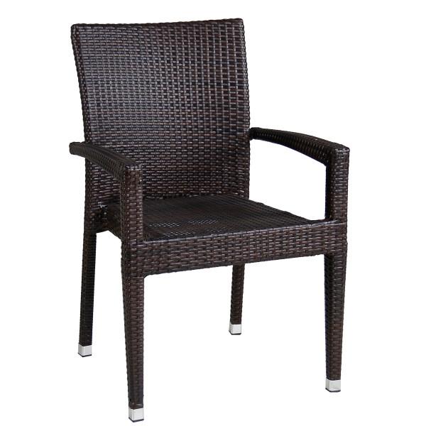 Polyrattan Stuhl für den Aussenbereich