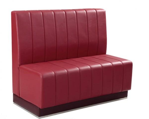Retro Style Gastro Sitzbank Rot