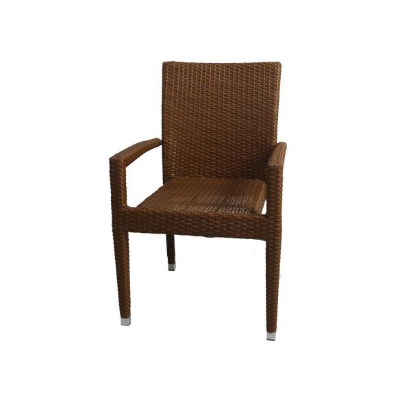 50 Stück Polyrattan Stuhl Verona braun