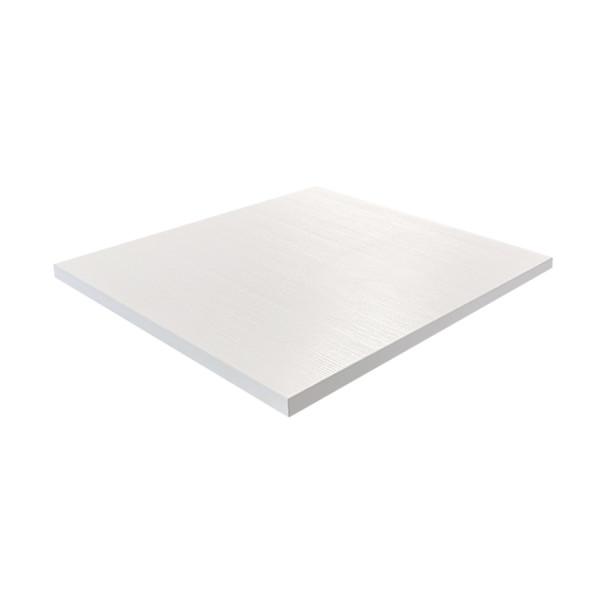 Tischplatte 80x80cm in Weiss kratzfest Mit ABS Schutzkante