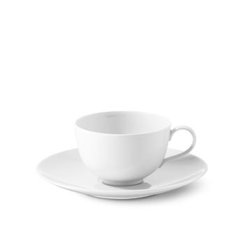 Porzellan Kaffeetasse mit Unterteller 10er Pack