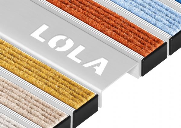 Fußmatten Eingangsmatten Individualprofil Edelstahl-Profil zur Darstellung von lasergeschnittenen Sc