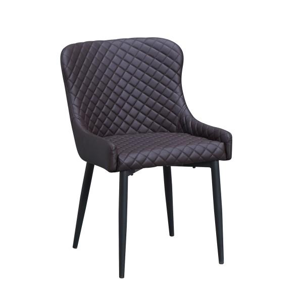 Hotel Armlehnen Stuhl dunkelbraun Sessel