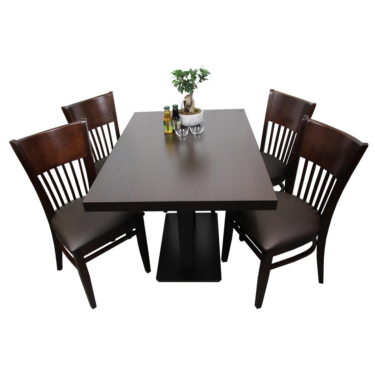 1 4 Restaurant Set Vera Hotel Bistro Tisch 120x80 Stühle