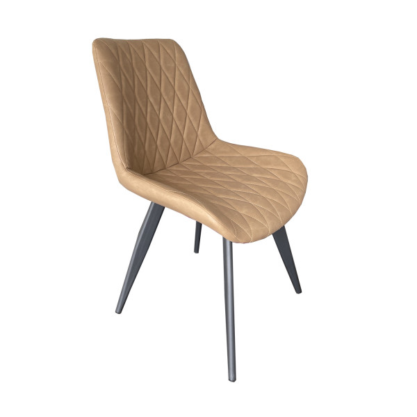 50x Stühle Restaurant Scarlet Hellbraun Kunstleder Hotel Bistro