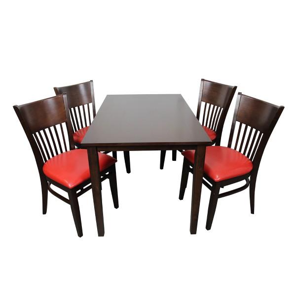 1+4 Garnitur Vera Restaurant Hotel Bistro Set Tisch und Stühle 120x75
