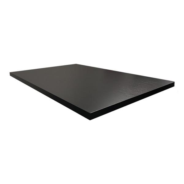 Tischplatte 120x80cm in Schwarz kratzfest Mit ABS Schutzkante