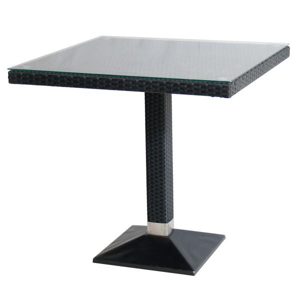 Polyrattan Glas Tisch 80x80cm