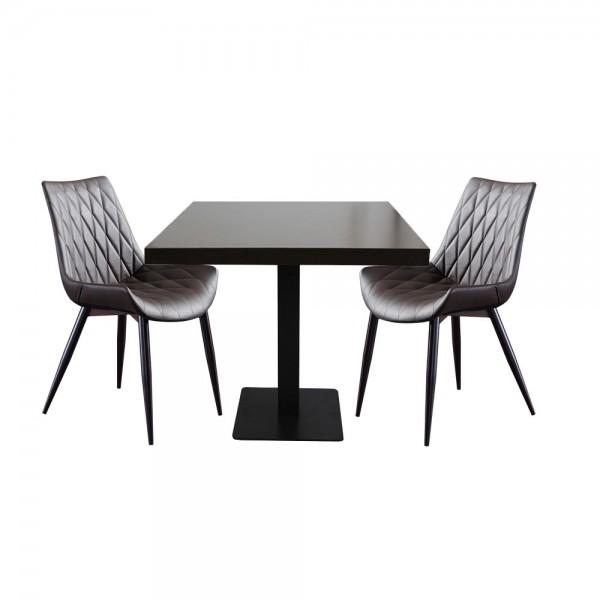 1+2 Set Stuhl Scarlet mit Tisch Milano Barun