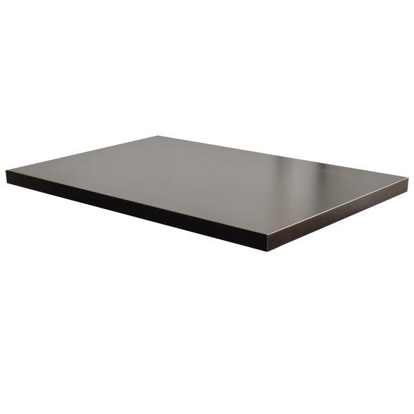 Tischplatte 100x80 cm dunkelbraun Mod. Milano