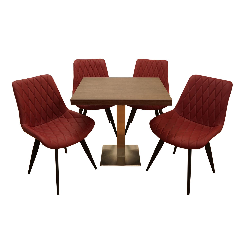 50 mm ABS Schutzkante braun Tischplatte 60x60 cm dunkelbraun kratzfest 5 cm