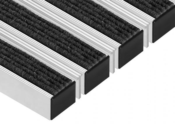 Eingangsmatten Fußmatten Aluminium-Profilmatten Natur-Rips mit Krantzkante 40X60cm