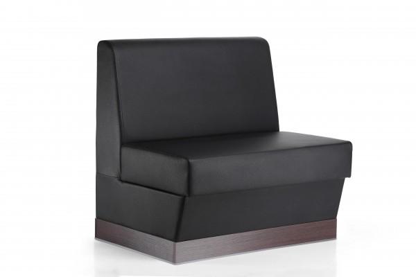 Sitzbank Florenz schwarz 120cm