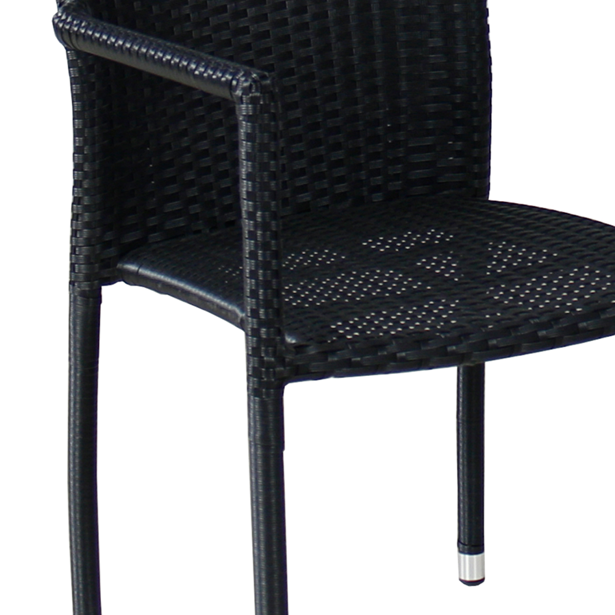 Polyrattan Stuhl Torino Schwarz Outdoor Stühle