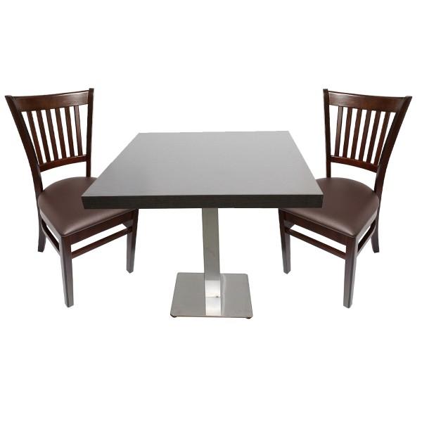 1+2 Set 60x60 Jolie Restaurant Stühle Bistro Gastronomie Möbel Stuhl Tisch Paris