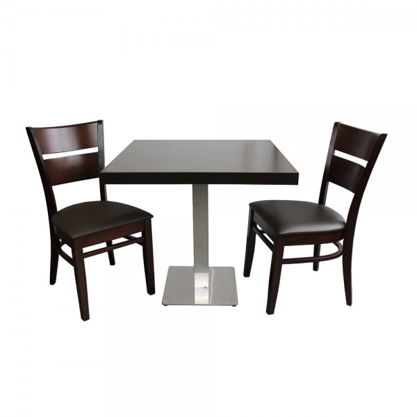 1+2 Set 60x60 Restaurant Grace Hotel Bistro Tisch Paris Stühle Gastronomie Möbel