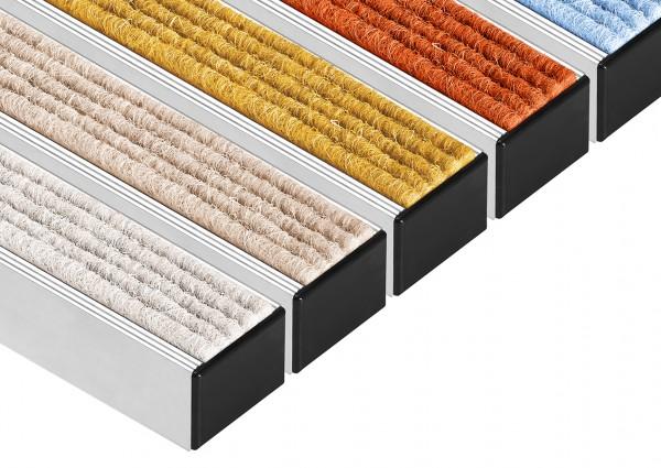 Eingangsmatten Fußmatten Aluminium-Profilmatten Natur-Rips mit Gummi 40x60cm